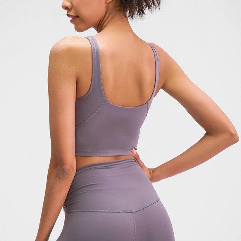 NWT U-Back Butter Soft Workout Gym Yoga Bras Women Racerback Tank Sexy Sports Sleeveless Shirt Loose Athletic Tops